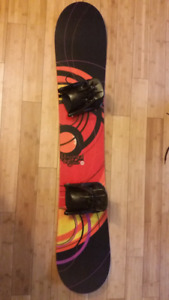 Rossignol snowboard, boots and bindings