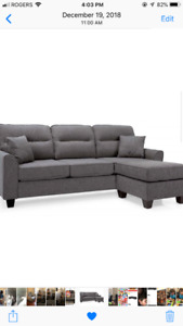 Brand new chase style couch in grey.