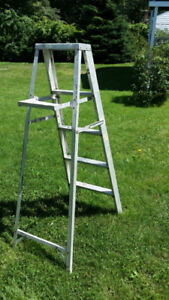 Aluminum Step Ladders 2 ft- 6 ft. & work tables