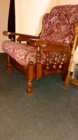 chunky oak chair