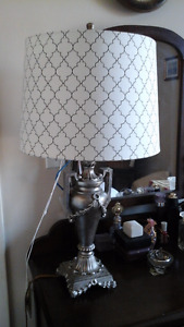 2 BEDSIDE / OCCASIONAL LAMPS, NEW LAMPSHADES