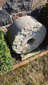 "Large antique mill stone wheel 12"" x 26"""
