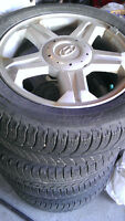 4 Michelin X-Ice Winter Snow tires 205 55 16 Hyundai Alloy rims.