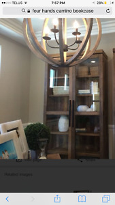 Rustic & refined solid reclaimed wood bookcase  - paid $2100