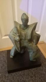 Sculpture of a Japanese Samurai
