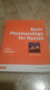 SELLING: $25 - USED BASIC PHARMACOLOGY FOR NURSES TEXT BOOK