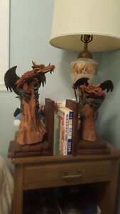 Gothic Style Dragon Book-ends