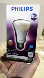 Philips LED bulbs 60w - 100s available