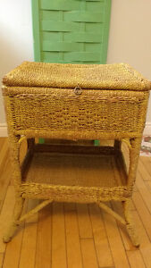 Vintage Wicker Sewing Stand