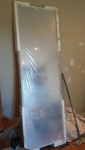 NEW 4' mirrored sliding closet doors