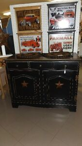 Buffet finished in Antique Black