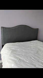 Beautiful upholstered headboard - excellent condition