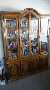 Large China Cabinet/ Hutch and Buffet for Sale