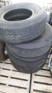 Four 265/70/15 M+S BF Goodrich Tires