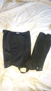 Xs wash and wear half chaps and size 10 childs breeches