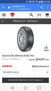 Winter tires 205 65R15 94Q