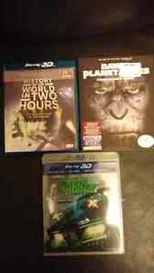 REDUCED 3D Blu-Rays (DVDs seperate ad)