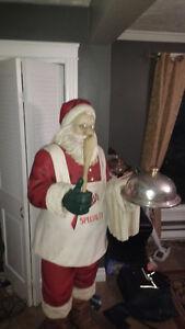 Huge Christmas Santa 5+ feet tall. Fiberglass