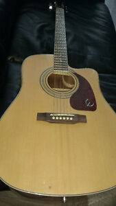 Acoustic electric Epiphone dr-200 great contiotion