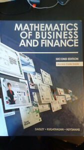 Math Of Business And Finance