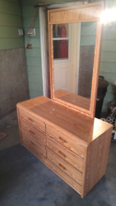 Dresser not solid wood - with mirror