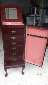 tall jewelry chest cabinet in great shape