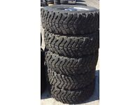 Set of four Land Rover Discovery Defender alloys and tyres 235 70 16 * Liverpool *