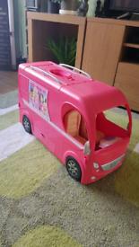 Barbie mobile home vehicle