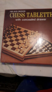 CHESS TABLETTE  with Concealed Drawer