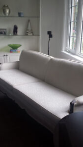 FRENCH PROVINCIAL SOFA OFF WHITE FABRIC!!! MUST GO!! 200!!
