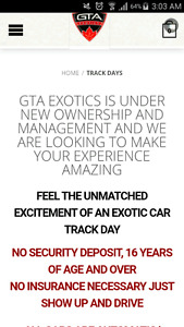 Race your dream car package