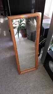 Beautiful Oak mirror 1 foot x 3 foot
