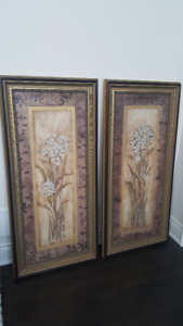 SELLING : 2 Piece Wall Art Paintings in Gold Frame Decor