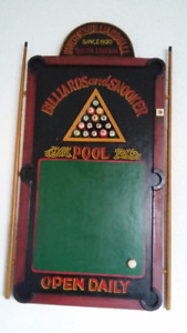 Billiards Hall Pool & Snooker 3D Wooden Sign Wall Art