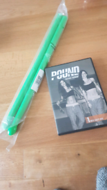 Pound fit 2 DVD work out and with ripstixs