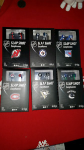 NHL iHip Earphones ☆New☆ $7 each