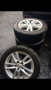 winter tires + mags, 16 inch ! NEGOTIABLE