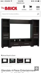 Nearly new entertainment unit – not from IKEA, from the brick