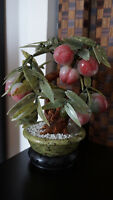 Vintage Chinese Jade Peach Tree, Chinese Vase In Porcelain/Vase