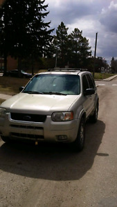 2003 Ford Escape Limited 4x4 Automatic (REDUCED  $3000)