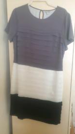 Per Una Black, Cream and Grey Dress