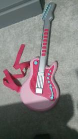 Kids pink guitar toy