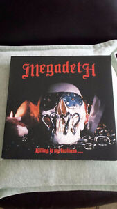 MEGADETH KILLING IS MY BUSINESS VINYL ! BRAND NEW !