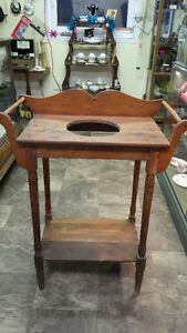 Antique Pitch Pine Wash Stand