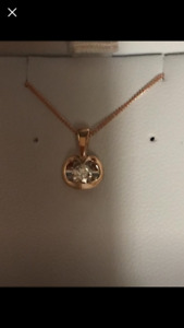 10kt Rose Gold and Diamond Necklace