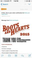 Boots and hearts full weekend pass 2 passes
