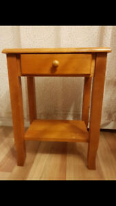 Side Table w/ Drawer- Solid Maple wood