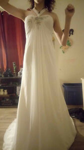 Athena Wedding Dress and Cathedral Veil