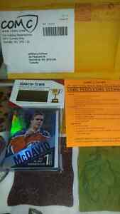 Connor McDavid Super Rare Tim Hortons Card and Young Gun Card