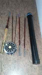5 Piece Ligne a Mouche Peche Fly Fishing Rod Reel